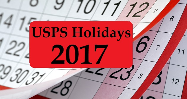 Post Office Holidays 2017
