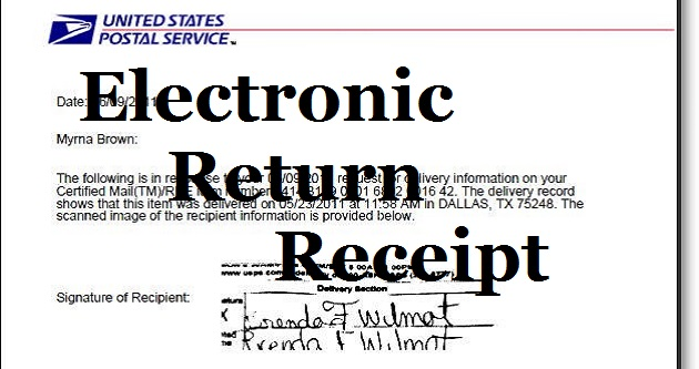 usps return receipt electronic