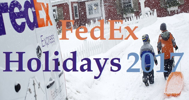 FedEx Holidays 2017