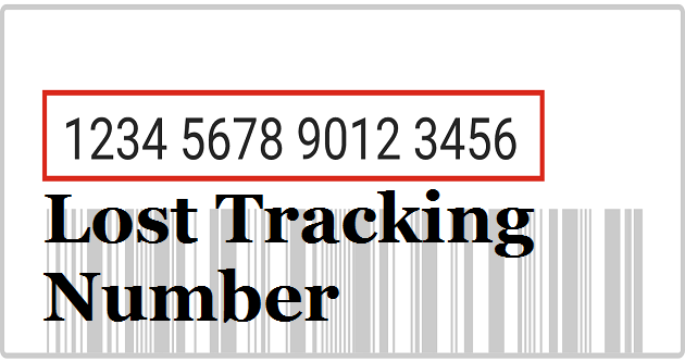 what if you lost your usps tracking number