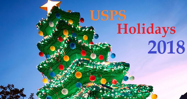 usps holidays 2018 us postal service holidays hours schedule - Does The Post Office Deliver On Christmas Eve