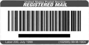 USPS Registered Mail