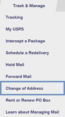 Address Change Option