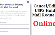 Cancel USPS Hold Mail Request Online
