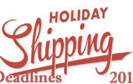 Holiday Shipping Deadlines 2017