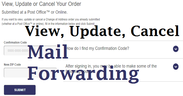 Stop or Modify Mail Forwarding USPS