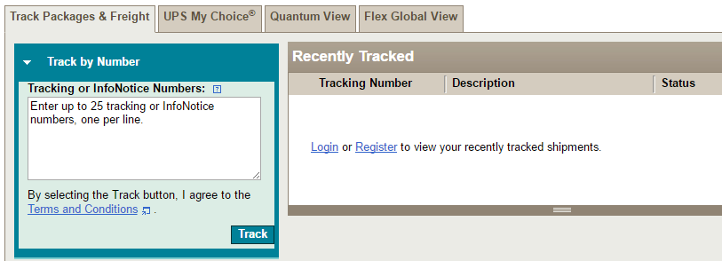 Ups Tracking Number Format Track Shipments