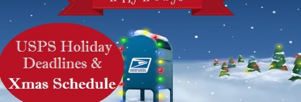USPS Holiday Schedule and Shipping Deadlines 2017