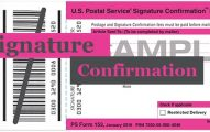 USPS Signature Confirmation