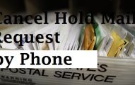 Change Cancel hold mail by phone