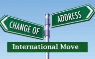 change of address for international move
