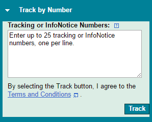 track by infonotice number